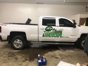 Landscaping and Lawn Care truck Sandpoint Idaho