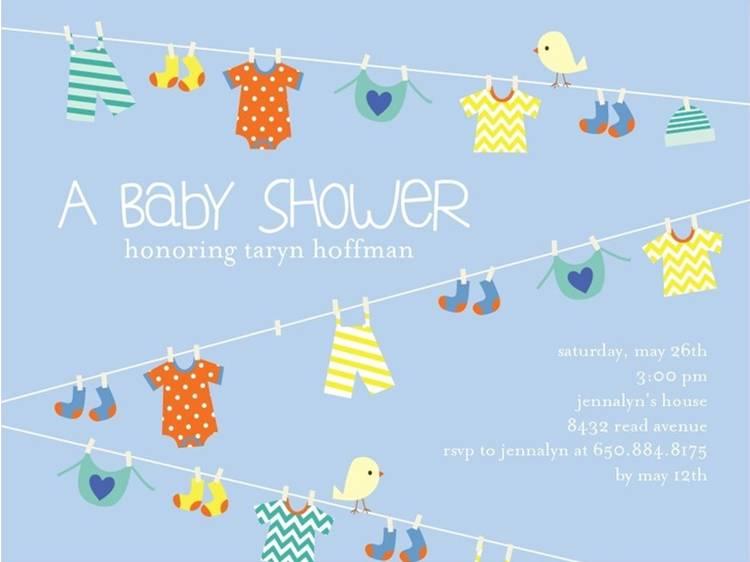 Sample Baby Shower Invitation 1