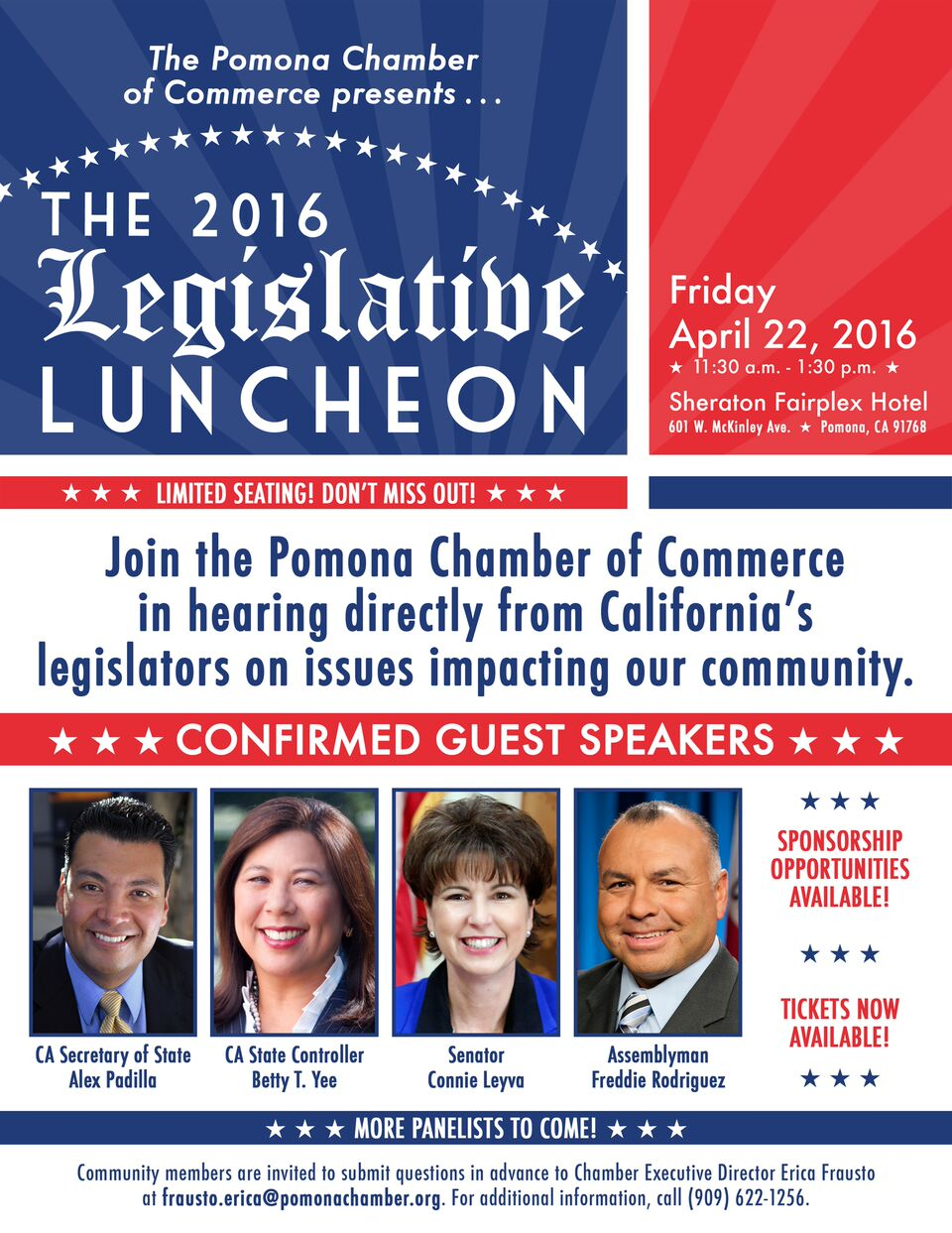 2016 Legislative Luncheon @ Sheraton Fairplex | Pomona | California | United States