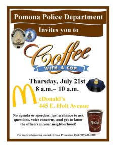 Coffee With A Cop | Pomona Chamber of Commerce