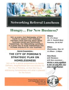 Networking Referral Luncheon @ Mr. D's Diner | Pomona | California | United States