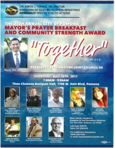 Mayor's Prayer Breakfast and Community Strength Award @ The Chateau Banquet Hall | Pomona | California | United States