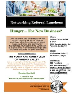 Referral Networking Luncheon @ Golden Corral | Pomona | California | United States
