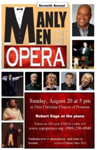 Manly Men of Opera @ First Christian Church of Pomona | Pomona | California | United States