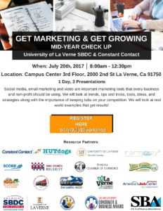 Get Marketing and Get Growing Event @ University of La Verne Campus Center, 3rd Floor | La Verne | California | United States
