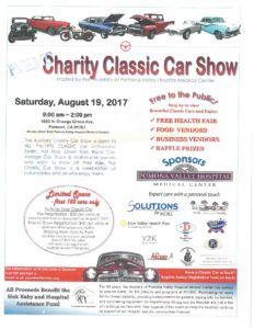 Charity Classic Car Show @ Auxiliary of Pomona Valley Hospital Medical Center | Pomona | California | United States