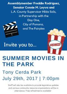Summer Movies In The Park @ Tony Cerda Park   Pomona   California   United States