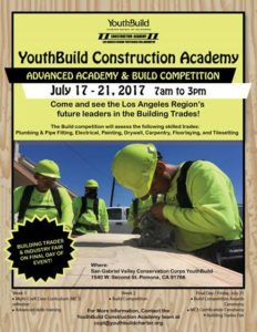 Advanced Academy, Build Competition Awards Ceremony , & Industry Fair @ San Gabriel Valley Conservation Corp YouthBuild | Pomona | California | United States