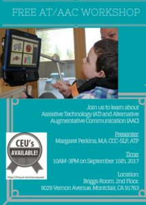 Augmentative and Alternative Communication Workshop @ OPARC Administrative Offices | Montclair | California | United States