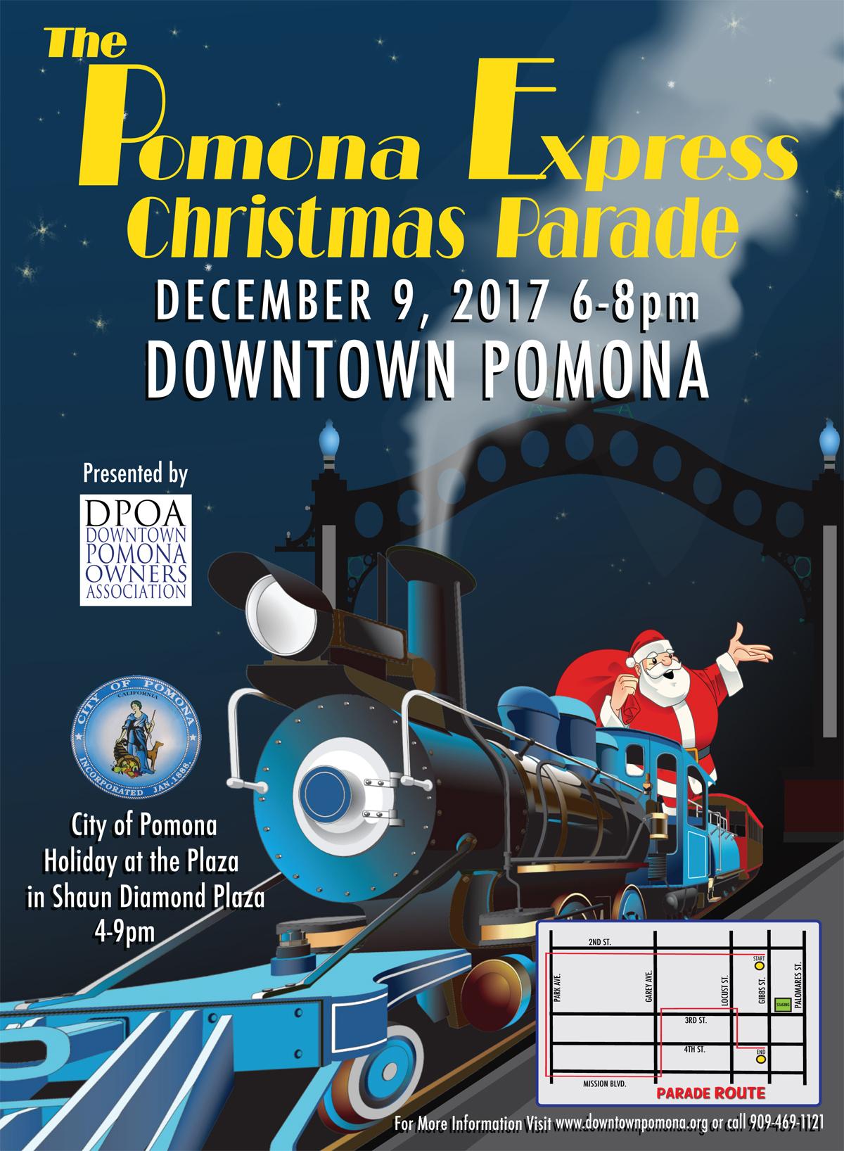 Pomona Christmas Parade 2019 The Pomona Express Christmas Parade   Pomona Chamber of Commerce
