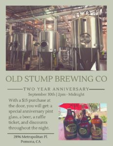 Old Stump Brewing Company's Two Year Anniversry @ Old Stump Brewing Company | Pomona | California | United States