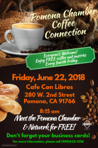 Pomona Chamber Coffee Connection @ Cafe Con Libros | Pomona | California | United States