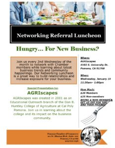 Referral Networking Luncheon @ AGRIscapes | Pomona | California | United States