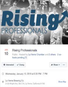 Rising Professionals @ La Verne Brewing Company | La Verne | California | United States