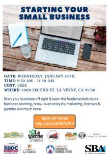 Starting Your Small Business Workshop @ University of La Verne | La Verne | California | United States