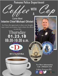 Coffee with a Cop @ Mr. D's Diner | Pomona | California | United States