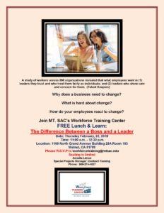 Mt. SAC Free Lunch and Learn @ Mt. San Antonio College | Walnut | California | United States