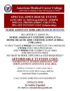 Open House!  American Medical Career College @ American Medical Career College | Pomona | California | United States