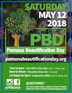 12th Annual Pomona Beautification Day @ Pomona City Hall | Pomona | California | United States