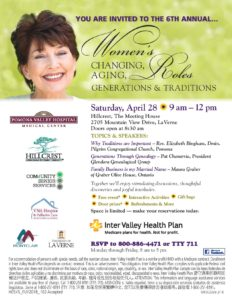 Women's Changing, Aging, Roles @ Hill Crest, The Meeting House | La Verne | California | United States