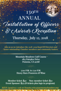 130th Annual Installation  of Officers & Awards Reception @ Mountain Meadows Golf Course | Pomona | California | United States