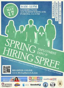 HIRING SPREE - SPRING EMPLOYMENT EXPO @ Ganesha Park | Pomona | California | United States