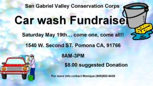 Carwash - San Gabriel Valley Conservation Corps @ Pomona | California | United States