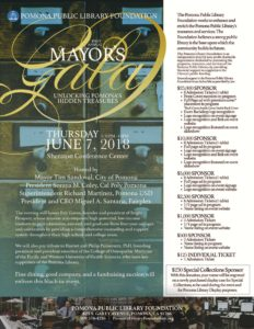 1st Annual Mayor's Gala - Pomona Public Library Fundraiser @ Sheraton Conference Center | Pomona | California | United States
