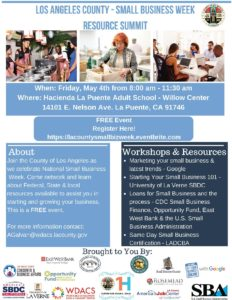 LA County - Small Business Resource Summit @ Hacienda La Puente Adult School - Willow Center | La Puente | California | United States