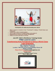 Workforce Training Luncheon - Mt. San Antonio College @ Mt. San Antonio College | Walnut | California | United States
