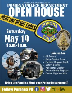 Pomona Police Dept. Open House @ Pomona Police Department | Pomona | California | United States