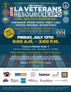 LA Veteran's Resource Expo - Fairplex, Pomona @ Pomona Fairplex, Bldg 4  | Pomona | California | United States