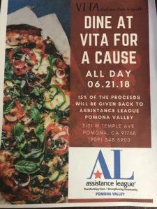 Dine for a Cause @ Vita Italian Bar & Grill | Pomona | California | United States