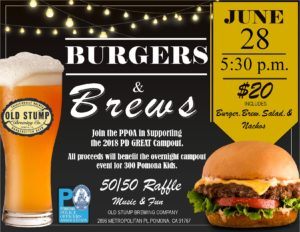 Burgers & Brews @ Old Stump Brewing Company | Pomona | California | United States
