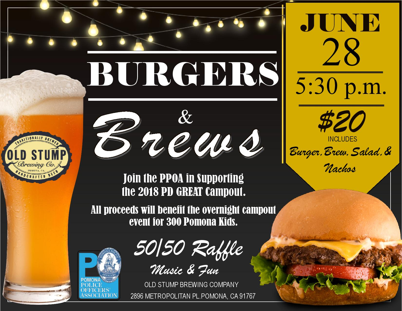 Burgers & Brews | Pomona Chamber of Commerce