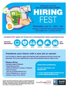 Hiring Fest @ Hacienda La Puente Adult Education - Multipurpose Room | La Puente | California | United States