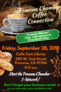 Chamber Coffee Connection @ Cafe Con Libros | Pomona | California | United States
