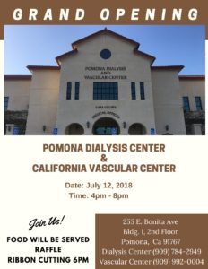 Grand Opening @ Pomona Dialysis Center & California Vascular Center | Pomona | California | United States