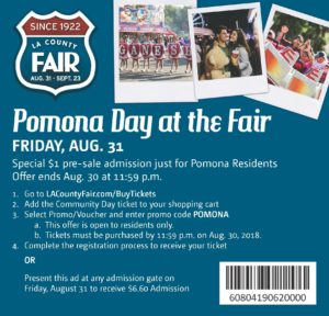 Pomona Day at the Fair @ Fairplex | Pomona | California | United States