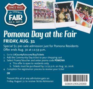 Pomona Day at the Fair @ Fairplex | Pomona | California | United States