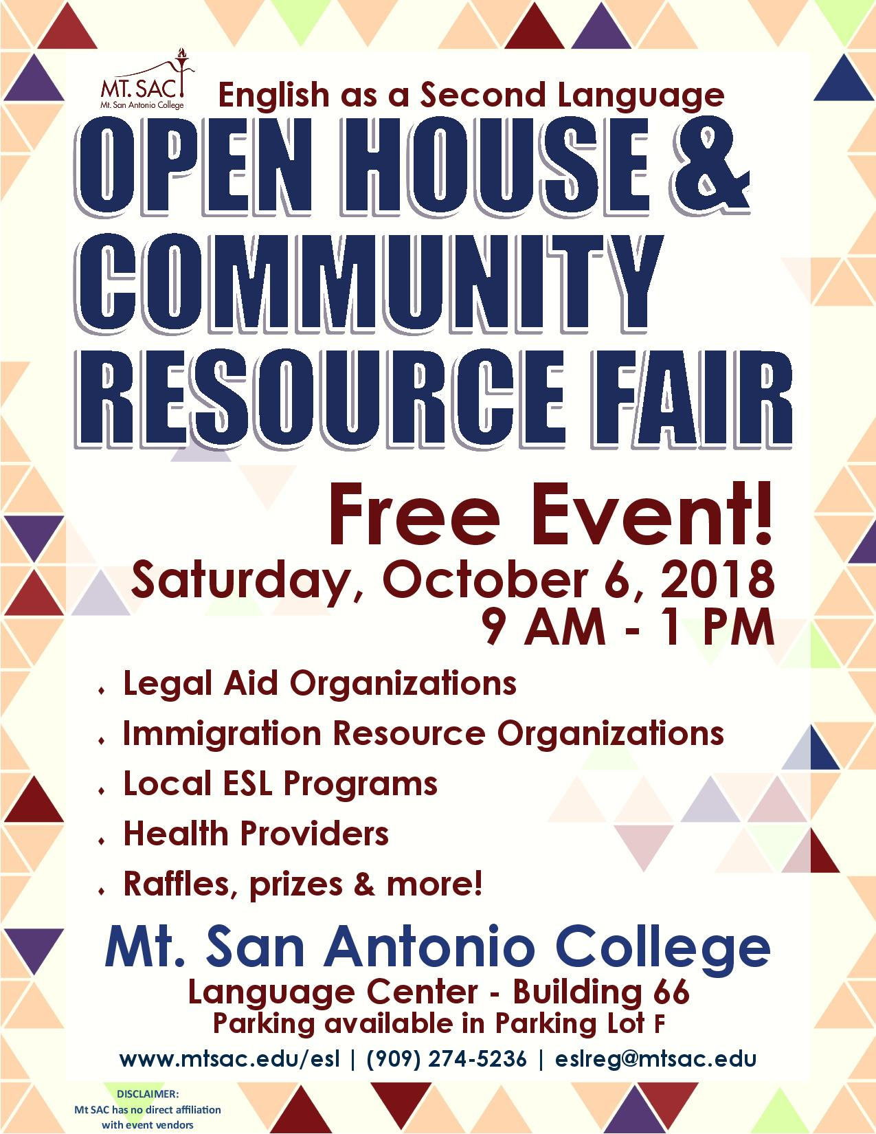 English As A Second Language Open House Amp Community