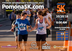 The 2nd Annual Pomona 5K Run/Walk @ Shaun Diamond Plaza | Pomona | California | United States
