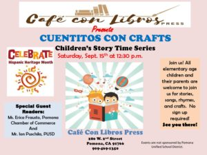 Cuentitos Con Crafts @ Cafe Con Libros | Pomona | California | United States