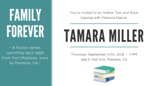 Author Talk & Book Signing - Tamara Miller, Pomona Native @ Pomona Ebell Museum of History | Pomona | California | United States