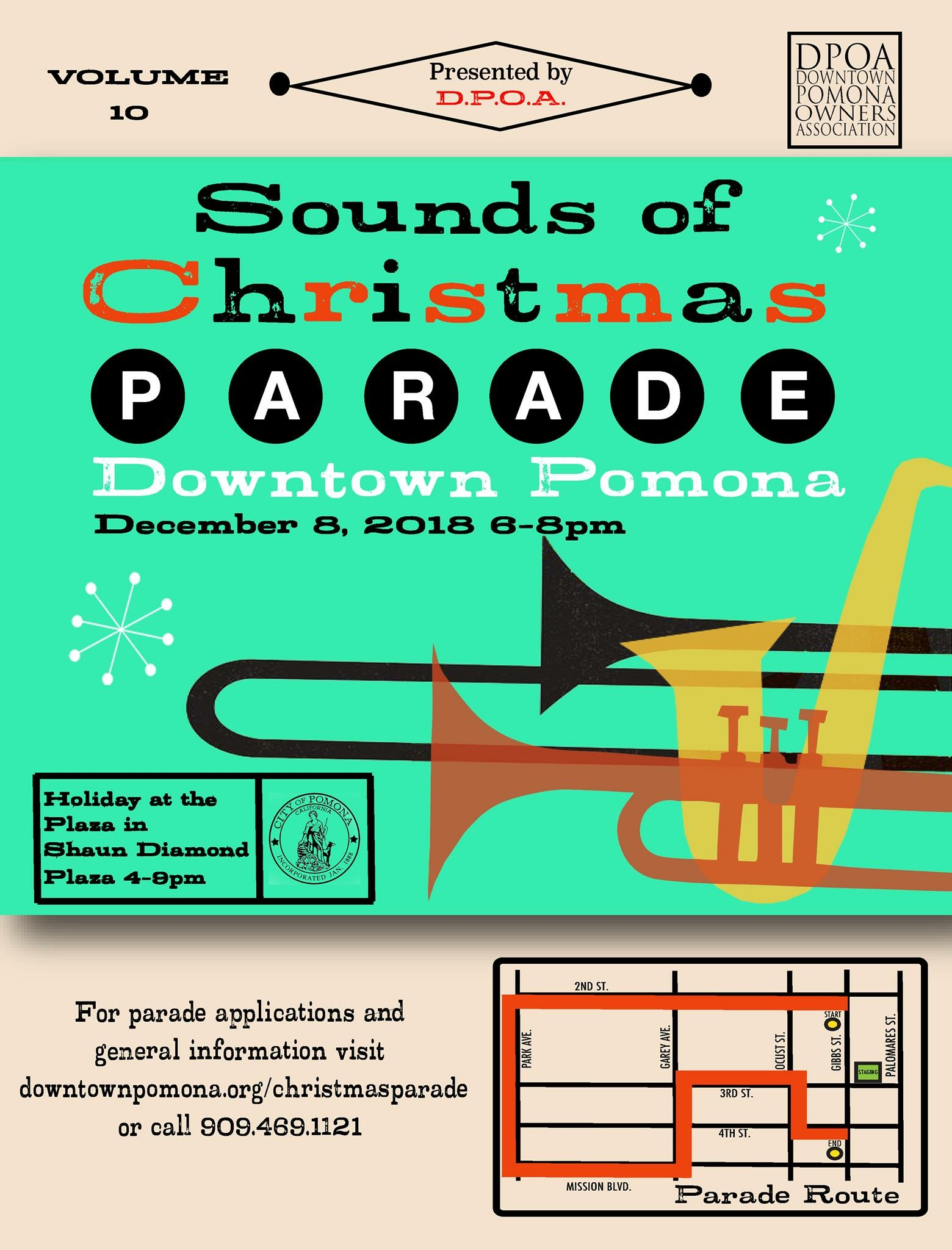 Pomona Christmas Parade 2019 Sounds of Christmas Parade in Downtown Pomona   Pomona Chamber of