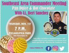 Southeast Area Commander Meeting @ Philadelphia Park | Pomona | California | United States
