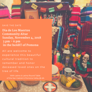 Dia de Los Muertos Community Altar @ dA Center for the Arts | Pomona | California | United States