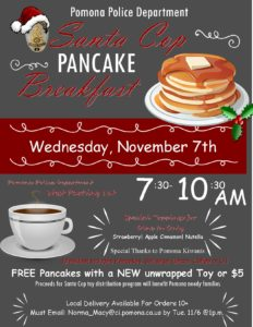 Santa Cop Pancake Breakfast @ Pomona Police Department - West Parking Lot  | Pomona | California | United States