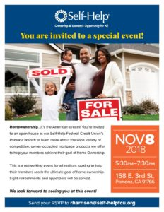 Home Ownership Open House at Self-Help Federal Credit Union @ Self-Help Federal Credit Union  | Pomona | California | United States