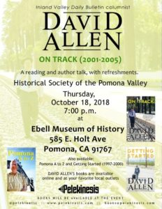 Author Talk with David Allen @ Ebell Museum of History | Pomona | California | United States